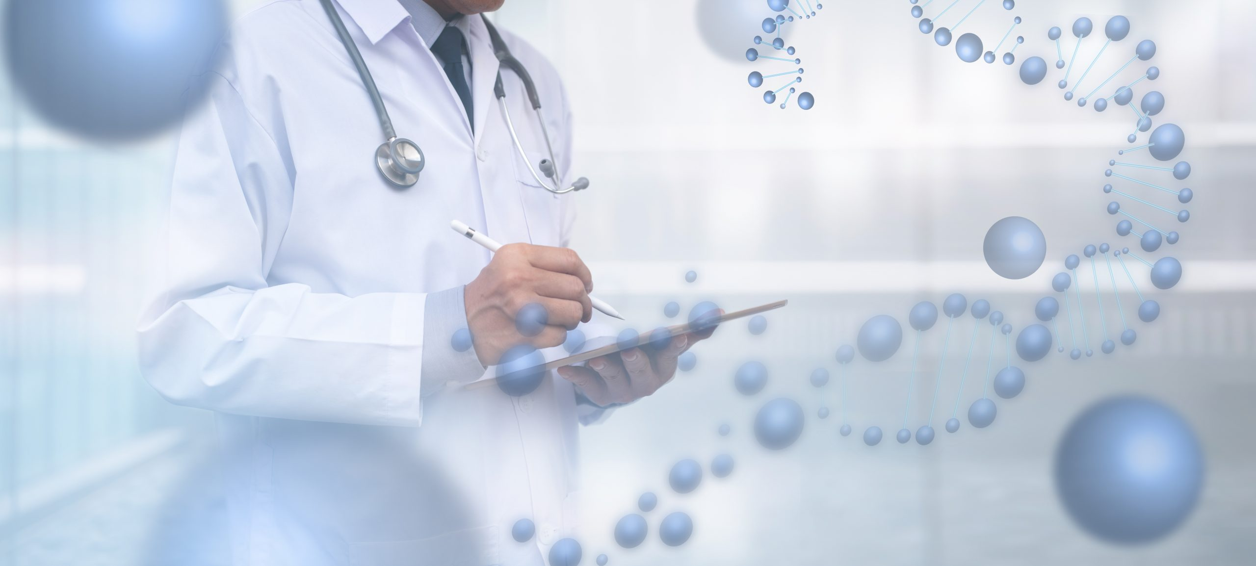 Medicine doctor hand touching on digital tablet computer interface, medical network connection with modern virtual screen, medical research and technology network concept